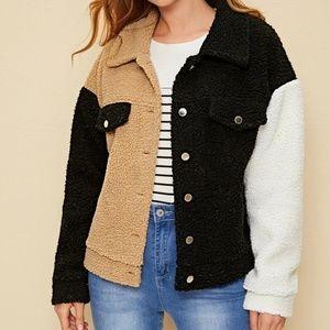 Mod Me Over Jackets & Coats - In Posh Trend Report NEW Colorblock Teddy Jacket
